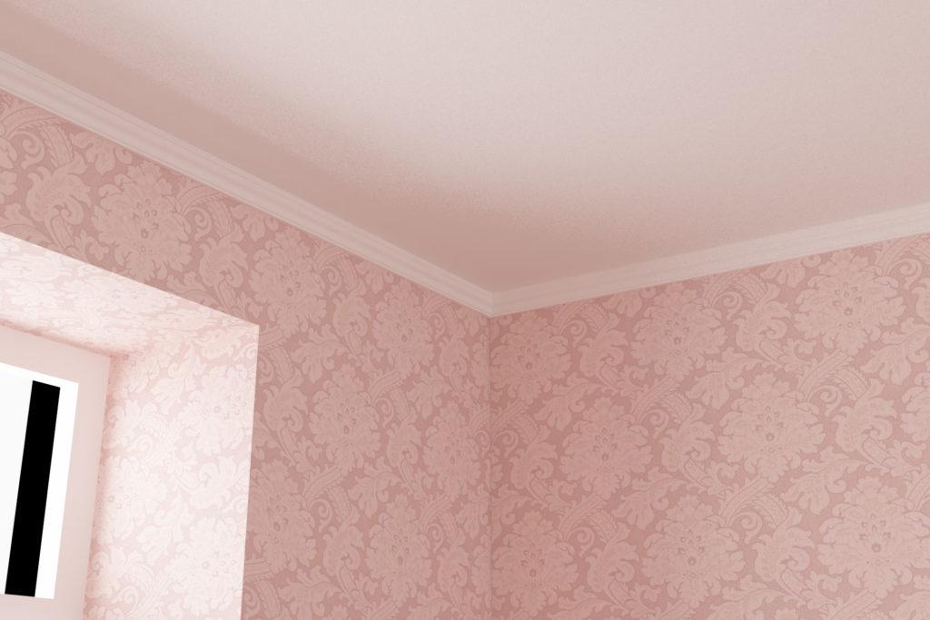 寝室天井廻り縁