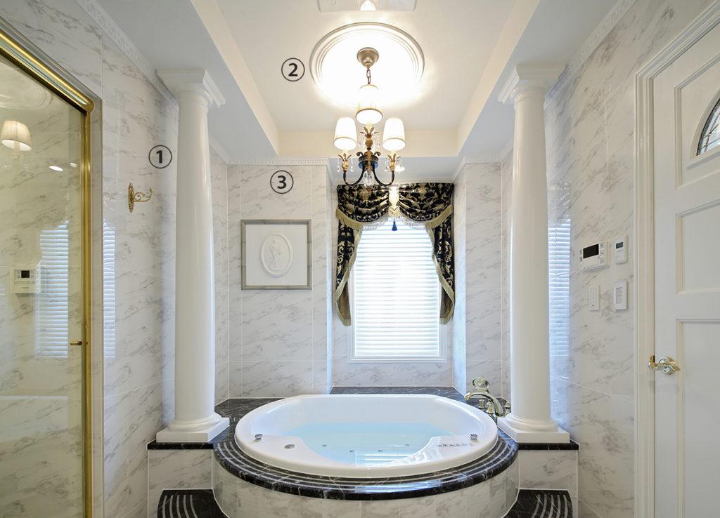 浴室天井まわり