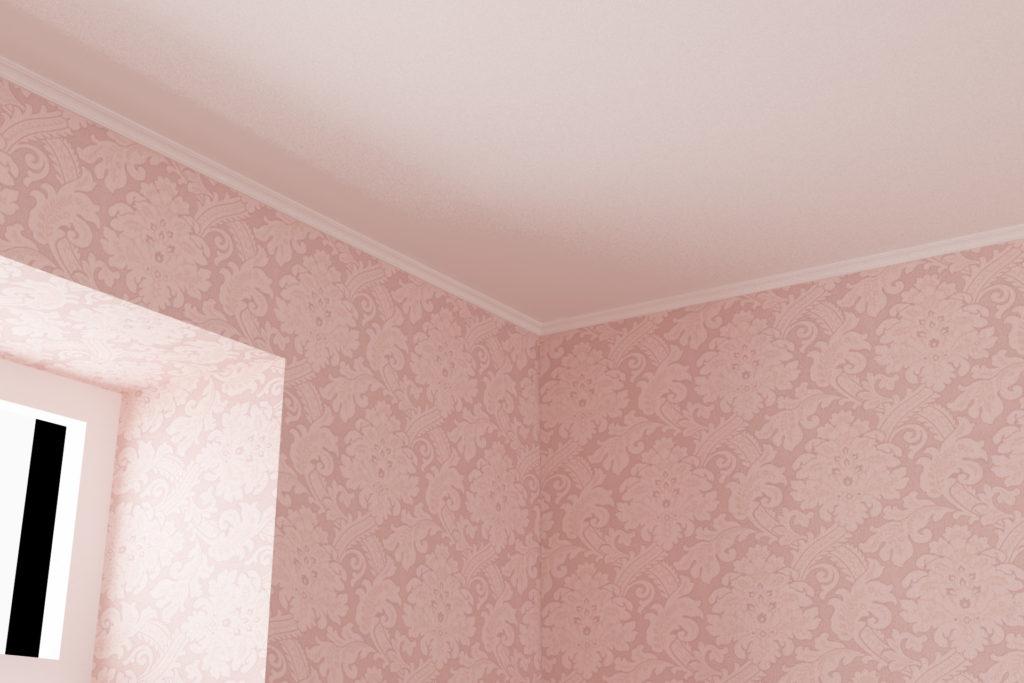 寝室1 - 天井廻り縁