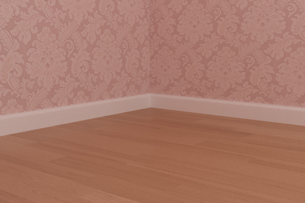 寝室1 - 巾木
