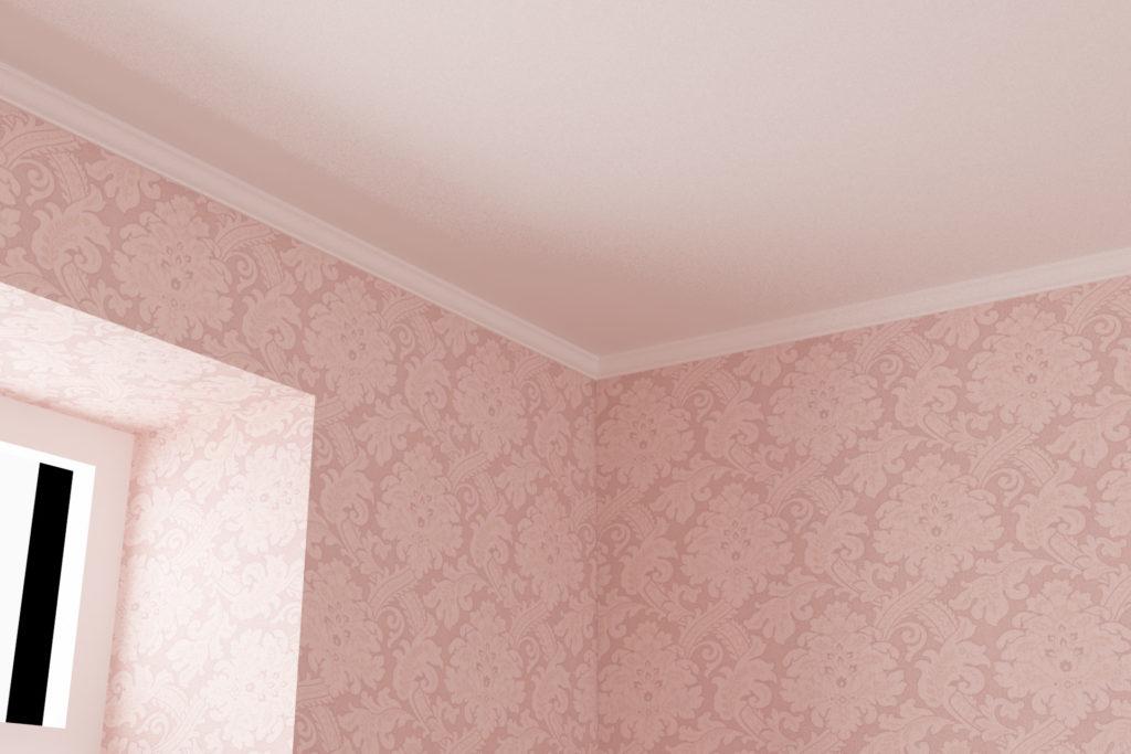 寝室3 - 天井廻り縁